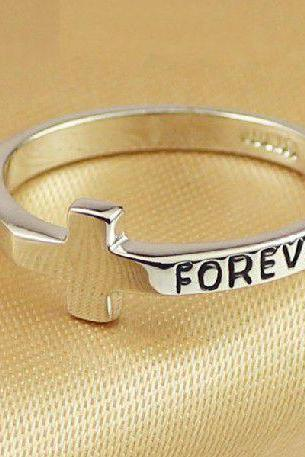 Cross Shape Forever Ring
