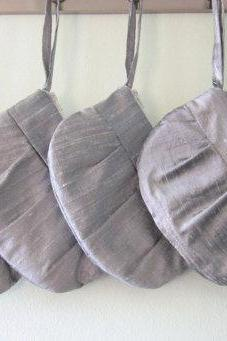 Wedding / Bridal / Bridesmaid Clutch - Grey / Silver hidden Wristlet Clutch - Perfect Bridesmaid Gift (available in all colours)