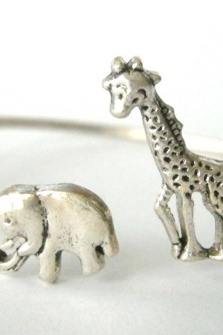 Giraffe cuff bracelet with an elephant wrap style