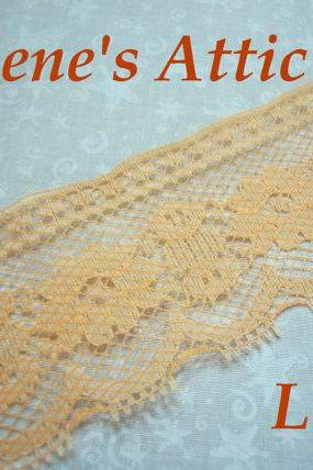 SALE 1 yard of 2 inch Peach chantilly lace trim for bridal, baby, lingerie, easter, crafts, spring by MarlenesAttic - Item EH