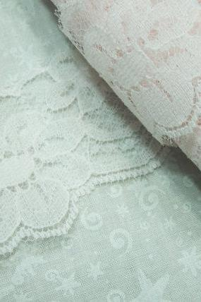1 yard of 1 3/4 inch light Pink Chantilly Lace trim for baby girl, bridal, wedding, baby, lingerie by MarlenesAttic - Item VK