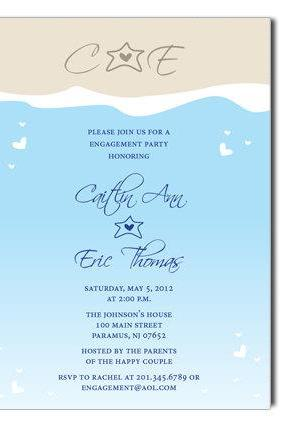 Ocean Beach Themed Custom Invitation