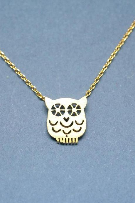 cute Owl necklace in gold