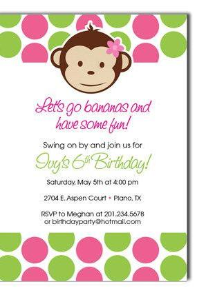 Mod Monkey Birthday Invitation