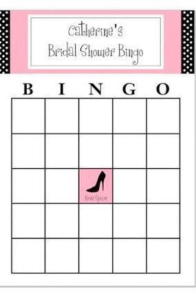 Polka Dot Bridal Shower Themed Bingo Game PDF
