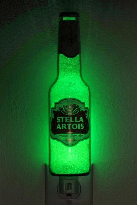 Stella Artois Beer 12oz Night Light Accent Lamp Man Cave Bar effect