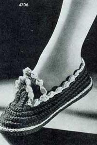 crochet slipper 015 PDF PATTERN