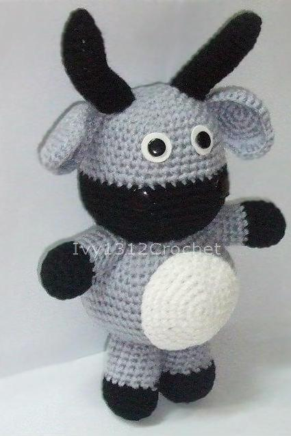 Big Buffalo - Handmade Amigurumi crochet Ox doll Birthday gift Baby shower toy