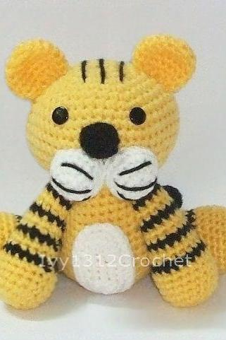 Tiger - Finished Handmade Amigurumi crochet doll Home decor birthday gift Baby shower toy