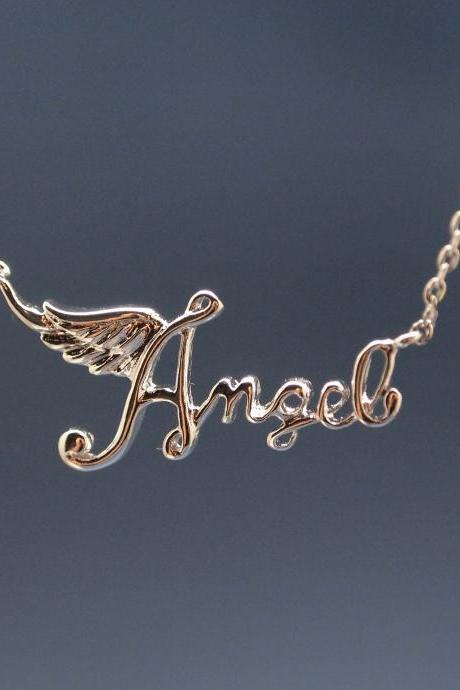 Angel Topography necklace in silver