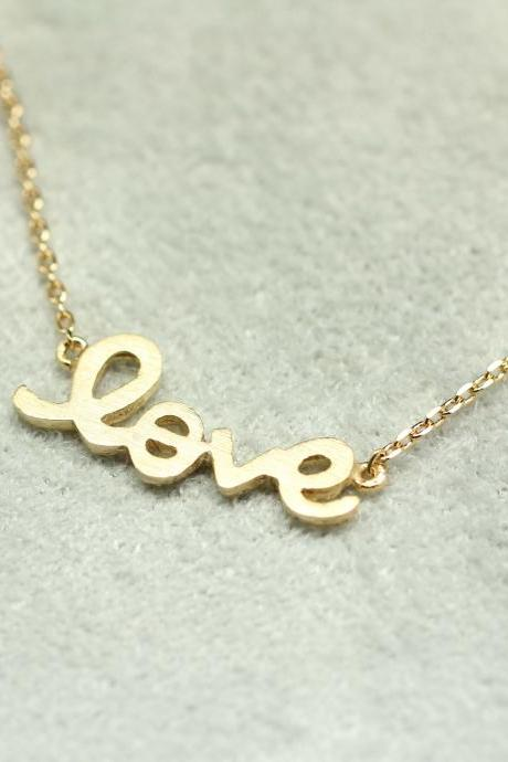 LOVE charm Necklace in gold