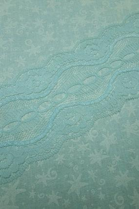 1 yard of 2 3/4 inch light blue galloon chantilly lace trim, lace for beading for bridal, baby, lingerie by MarlenesAttic - Item Q6