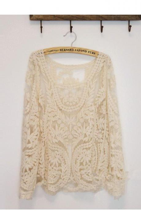 Cute Lace Long sleeved T-Shirt
