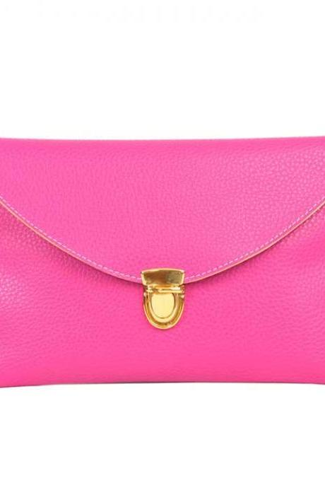Candy-Coloured Envelope Clutch, Chain Crossbody Bag