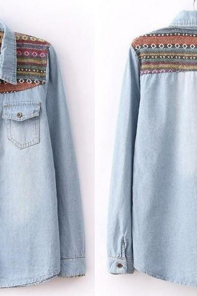 Light Blue Vintage Denim Shirt