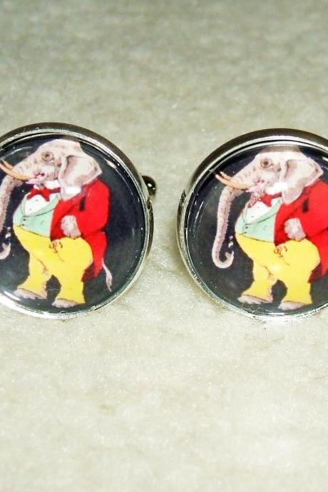DAPPER Dressed ELEPHANT Cuff Links Men Women CUFFLINKS Jewelry