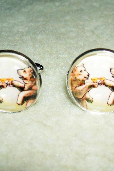 CHEERS BEARS Cuff Links Men Women CUFFLINKS Jewelry Animal Friends