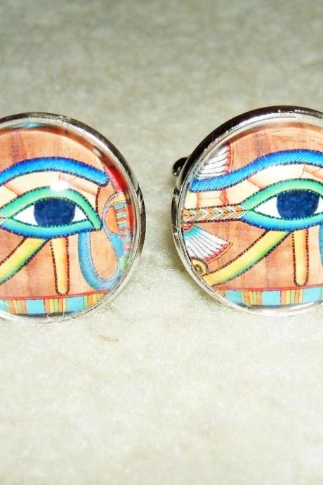 EYE Of HORUS Cuff Links Men Women CUFFLINKS Jewelry Egyptian Revival