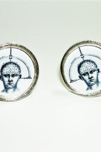 CRANIOMETER Prenology Cuff Links Men Women CUFFLINKS Jewelry Victorian Steampunk