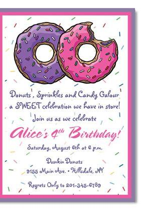 Donut Birthday Invitation - Custom Colors