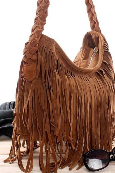 Tassel Celebrity Fringe Shoulder Messenger Cross Body Bag Handbag