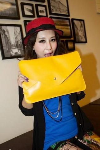 Women's Fashion Oversize Clutch Bag - Multi Colors