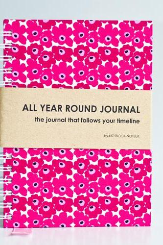 All Year Round Journal (unfilled dates / months / years) - Pink Marimekko
