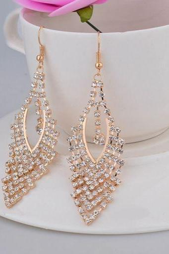 Gold Earrings Rose Gold Earrings for Women