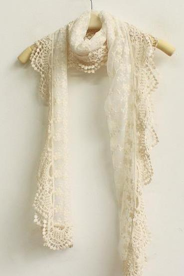 Stylish Cute Lace Crochet Scarf