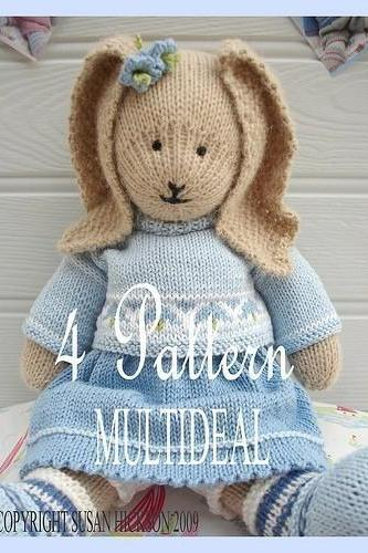 Oscar/ Bluebell/ Daisy / Primrose/ 4 Pattern Multideal/ PDF Patterns/Toy Knitting Patterns