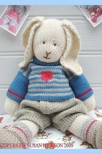 OSCAR RABBIT / Bunny/ Knitted Toy PDF email pattern/ Toy Knitting Pattern