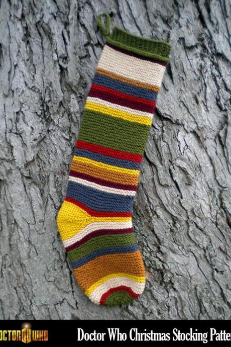 Doctor Who Christmas Stocking Knitting Pattern