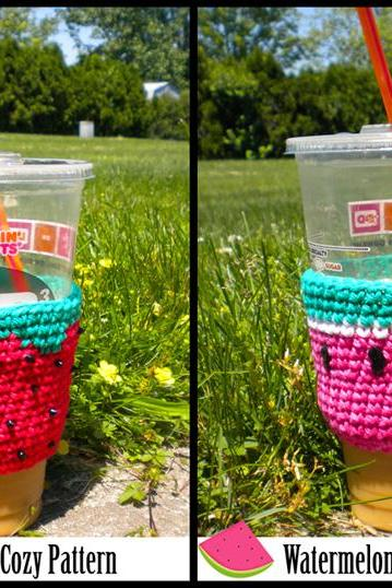 Summer Fruits Cup Cozies Pattern