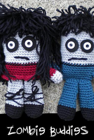 Zombie Buddies Crochet Pattern