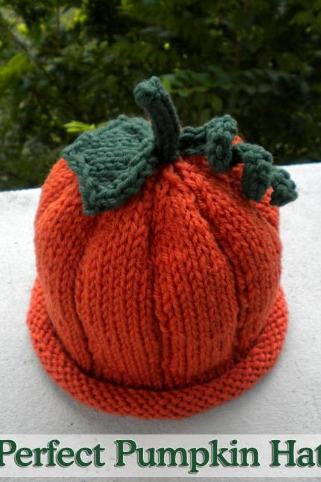 Perfect Pumpkin Hat Knitting Pattern