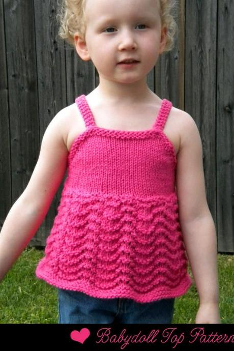 Babydoll Top Knitting Pattern