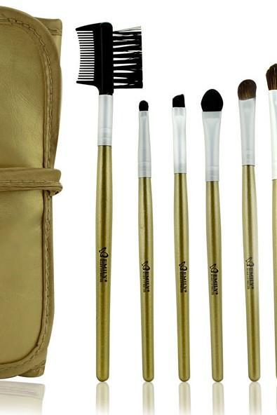 Good 7pcs/set Natural Makeup Brush Cosmetic Brushes Set Kit For Daily Beauty - Golden