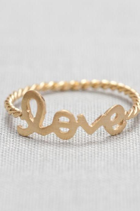 US 8 Size-LOVE word ring