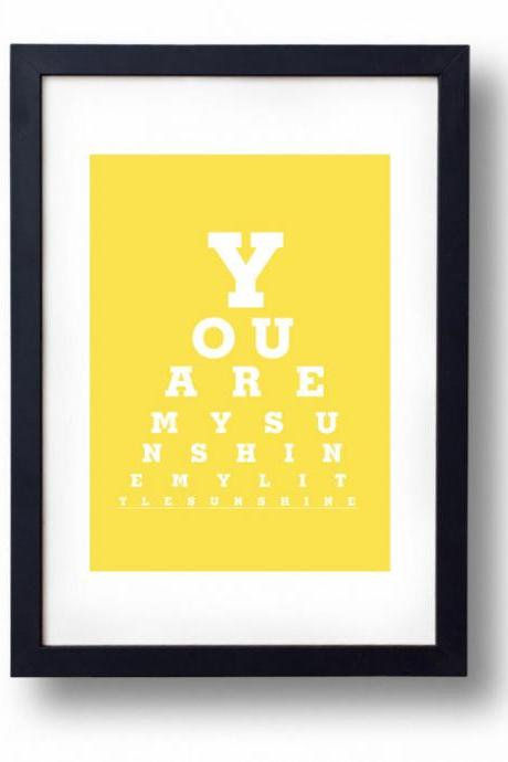 Childrens Artwork, Nursery Artwork - You Are My Sunshine