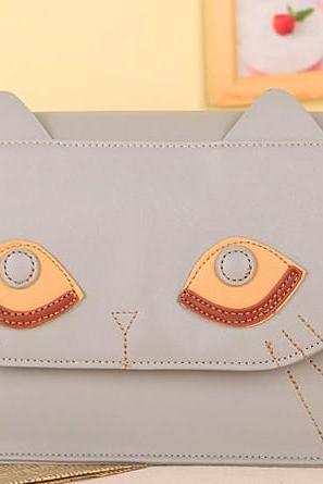 Cute Cat Face Ear Shoulder Bag Handbag Purse Book bag