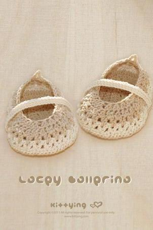 Spring Summer Khaki Lacey Ballerina Crochet PATTERN, SYMBOL DIAGRAM (pdf) by kittying
