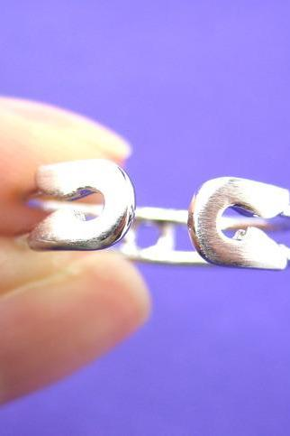 Adjustable Safety Pin Wrap Ring in Sterling Silver