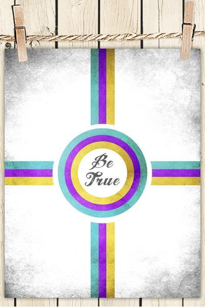 Poster Print 8x10 - Be True - For Your Wall Decor