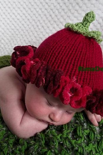 One Hat GENUINE Original Design Baby Bell Flower photography props girl newborn 0-3 hot pink blue green purple handmade in Canada