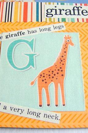 G Is For Giraffe Collage - Kids Nursery Childrens Wall Art Decor - Alphabet ABC - The Giraffe Has Long Legs